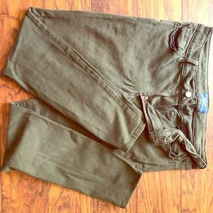 Old Navy, army green, ankle skinny, size 10